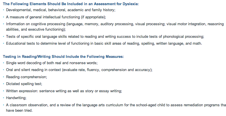 dyslexia teaching learners special needs msse  the ncld offers a summative list for testing of dyslexia